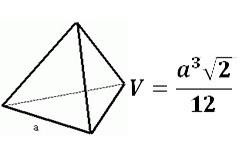 Объем правильного тетраэдра