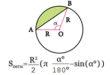 Площадь сегмента круга