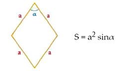 Расчет площади ромба через основание и высоту