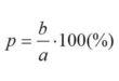 Процентное соотношение чисел