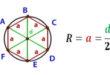 Радиус описанной окружности шестиугольника