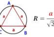 Радиус описанной окружности правильного треугольника