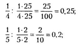 Перевод десятичных чисел в дробь