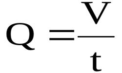 Массовая скорость объемного потока