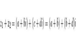 Сложение комплексных чисел