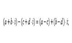 Вычитание комплексных чисел